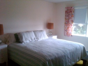 Bayville Rental Cottage White King Bed